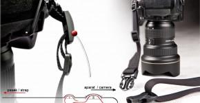 sposób mocowania paska casco (wersja sprzed 2016r.) do aparatu